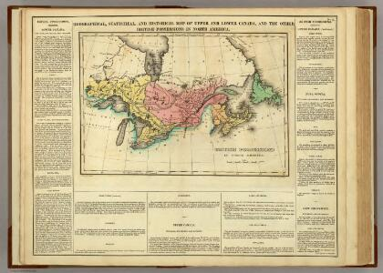 Map Of Upper And Lower Canada.