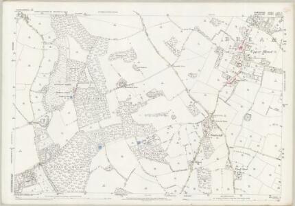Wiltshire LXXVI.11 (includes: Breamore; Fordingbridge; Rockbourne; Whitsbury) - 25 Inch Map