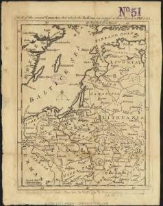 Map of the several countries thro' which the Russians are to pass in their march to Prussia