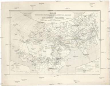 Karte über die geographische Verbreitung des Kameels