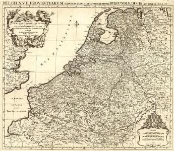 Belgii XVII. Provintiarum. Universa Tabula Ad Usum Serenissimi Burgundiae Ducis
