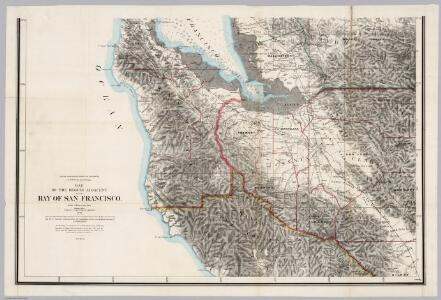 South Sheet: Map Of The Region Adjacent To The Bay Of San Francisco.