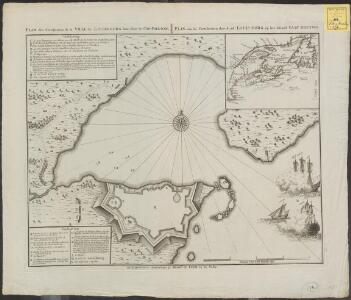 Plan des fortifications de la ville de Louisbourg dans l'isle de Cap-Breton