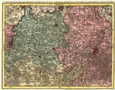 Carte Particuliere des Environs de Bruxelles avec le Bois Soigne et d'une Partie de la Flandre jusques Agand