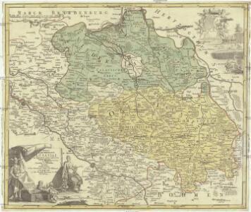 Totius marchionatus Lusatiae tam superioris quam inferioris tabula specialis in suos comitatus et dominatus distincta