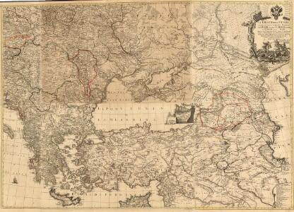 Le Theatre de la Guerre entre les deux puissans Empires de Russie et de Turquie, tant en Europe qu'en Asie :