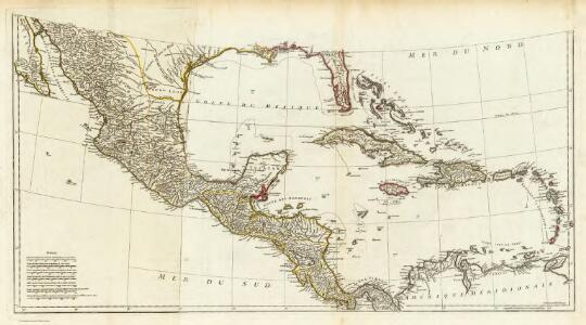 (Amerique Septentrionale. Southern section).
