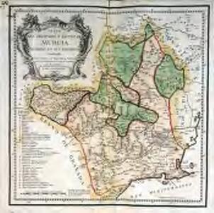 Mapa del obispado y reyno de Murcia