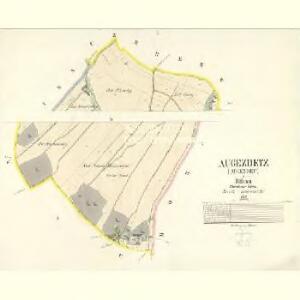 Augezdetz (Augezdec) - c8219-1-001 - Kaiserpflichtexemplar der Landkarten des stabilen Katasters