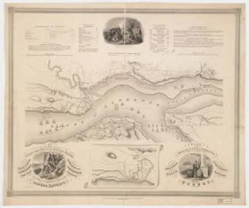 Plan of the military & naval operation under the command of the immortal Wolfe, & vice admiral Saunders, before Quebec