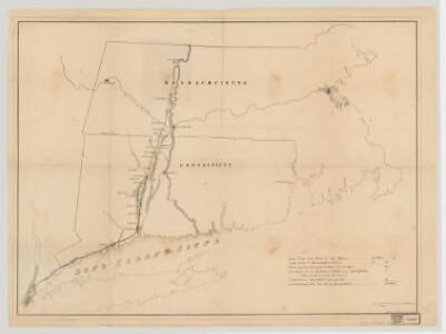 [Map of railroad lines from New York to Springfield, Mass.]