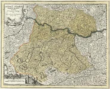 Avstria Svperior secundum IIII. Quadrantes & regiones contiguas