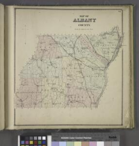 Map of Albany County.