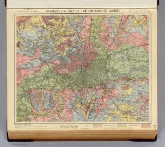 Orographical map London.
