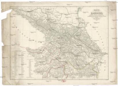 Karte des Kaukasus