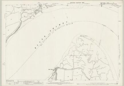 Essex (1st Ed/Rev 1862-96) LXXXIII.15 (includes: Northfleet; Swanscombe; Thurrock) - 25 Inch Map