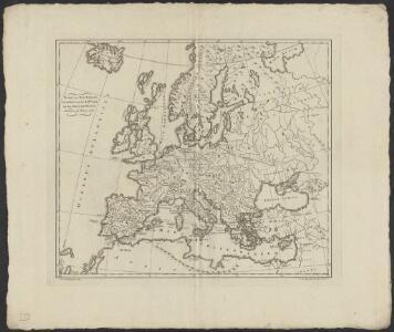 Kaart van oud Europa tot verstand van XXIste boek van den Geest der wetten [door den heere baron de Montesquieu]