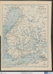 Eisenbahnkarte von Finnland