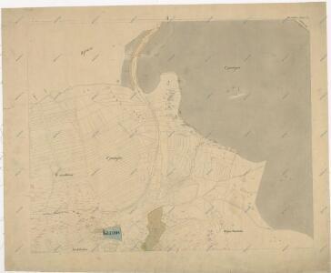 Katastrální mapa obce Kaznějov WC-VIII-18 ah