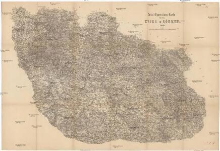 Detail-Operations-Karte für den Krieg in Böhmen 1866