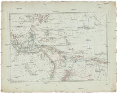 Karte von Australien oder Polynesien