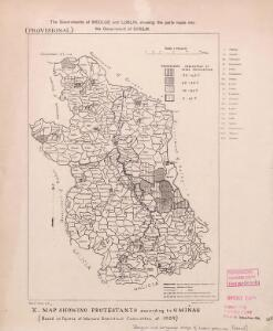 Religion and language maps of Lublin province, Poland no.10