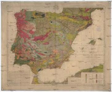 Mapa geológico de Espana y Portugal