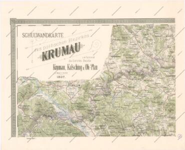 Schulwandkarte des politischen Bezirkes Krumau Blatt 1