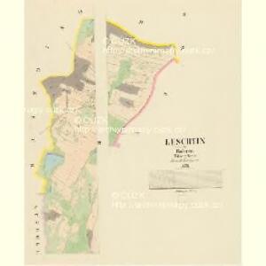 Leschtin - c3885-1-002 - Kaiserpflichtexemplar der Landkarten des stabilen Katasters