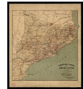 Carreteres i camins de Catalunya / formulat per la Direcció d'Obres Públiques de la Mancomunitat de Catalunya ; dt. i gt. V. Turell
