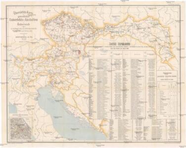 Übersichts-Karte der gewerblichen Unterrichts-Anstalten in Österreich