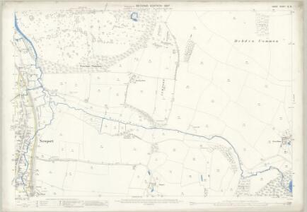 Essex (1st Ed/Rev 1862-96) IX.13 (includes: Debden; Newport; Widdington) - 25 Inch Map