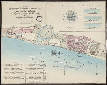 Plan exhibiting the Several Anchorages in the Madras Roads