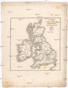 Carte des trois royaumes d'Angleterre d'Ècosse et d'Irlande