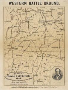Western Battle-Ground. Western Naval Expedition Map
