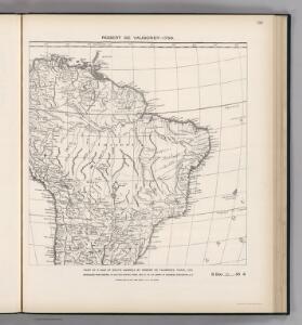 Facsimile:  Part of South America by de Vaugondy.
