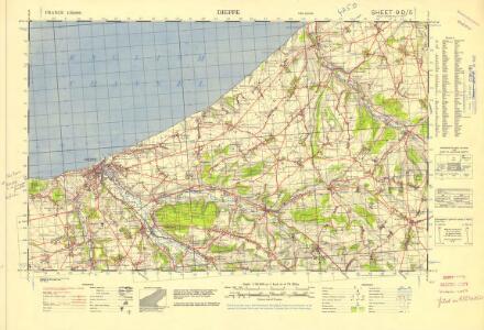 France 1:50,000 , Series GSGS 4250, Dieppe