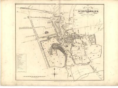 Plan of the Town of Dunfermline from actual survey.