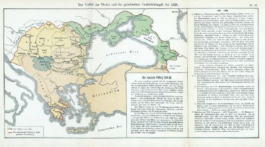 Nr. 12. Der Verfall der Türkei und die griechischen Freiheitskämpfe bis 1829