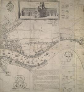 Newcourt's 'Map of London', detail showing the East End
