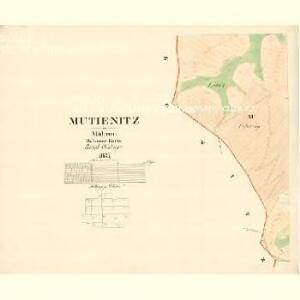 Mutienitz - m1904-1-009 - Kaiserpflichtexemplar der Landkarten des stabilen Katasters
