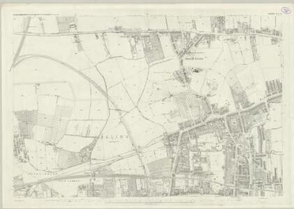 London (First Editions c1850s) XL (includes: Acton; Chiswick St Nicholas; Hammersmith) - 25 Inch Map