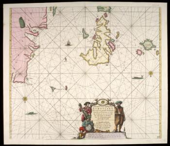 Pascaert vande westkust van Schotlant, als mede een gedeelte van de Lewys Eylanden, van S. Patricius tot Nary, Nog t'I. Roda ofte Barre en t'I. S. Kilda met al Syn diepten en droochten, dus ver naeuke