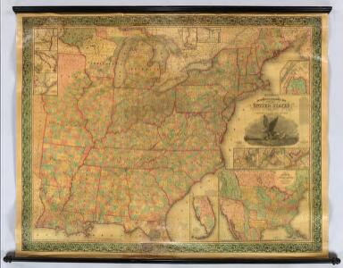 Mitchell's Reference & Distance Map Of The United States.