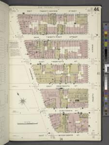 Manhattan, V. 2, Plate No. 44 [Map bounded by E. 22nd St., 4th Ave., E. 17th St., Broadway]