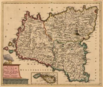 Regni Siciliae et Insulae Maltae et Gozae cum Omnibus adjacentibus Insulis Novissima Descriptio