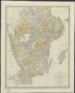 Karta öfver Södra Delen af Sverige