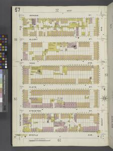 Brooklyn V. 3, Plate No. 57 [Map bounded by Hopkins St., Marcy Ave., Myrtle Ave., Nostrand Ave.]