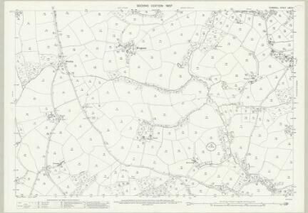 Cornwall LXXX.3 (includes: Cury; Mawgan in Meneage) - 25 Inch Map