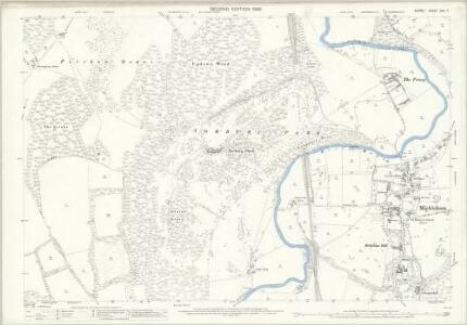Surrey XXV.7 (includes: Fetcham; Mickleham) - 25 Inch Map
